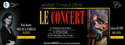 Concert le 11 Mars 2016