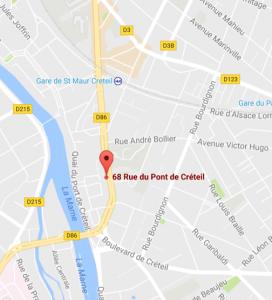 Plan 68 rue du Pont de Créteil