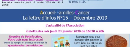 Lettre d'information n°15 – Janvier 2020